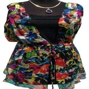 Silk Floral Tunic + Cami Lot 2 Top New XS/S/M/L